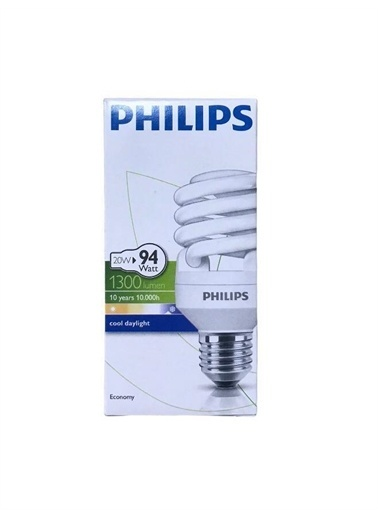 istegelsin Philips Twister 20W Tasarruflu Ampul Bey Renksiz